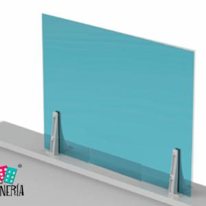 Mostrador pantalla de protección sin ventanilla