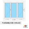 Puertas plegables de PVC blanco de 3 hojas