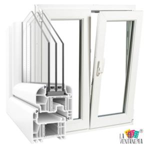 Ventana en PVC blanco con triple vidrio